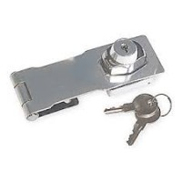Safety Hasp and Lock with 2 keys